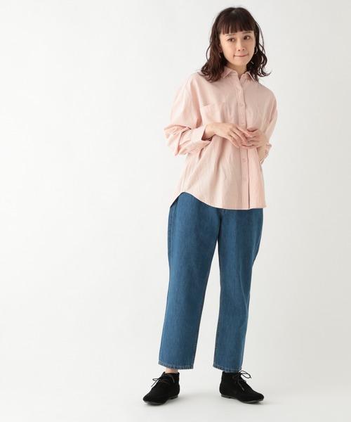 [studio CLIP] 《days》ナチュラルしわカラーシャツ
