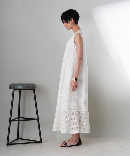 [Rose Tiara] 【ZOZO限定先行予約】アイレット刺繍 コットンレースワンピース