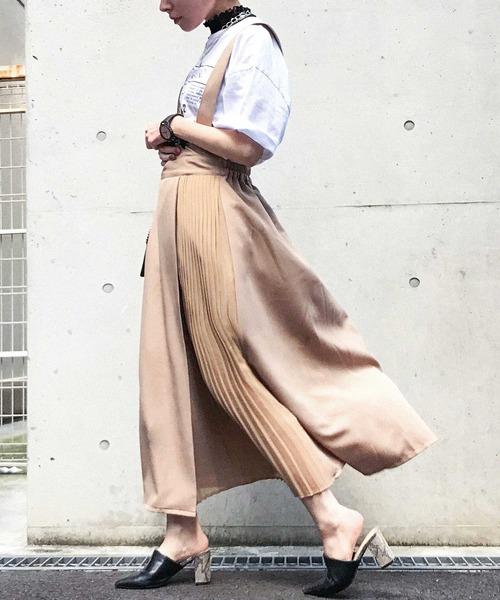 [Fashion Letter] 20SS ワンショルダー風ジャンスカ ワンピース