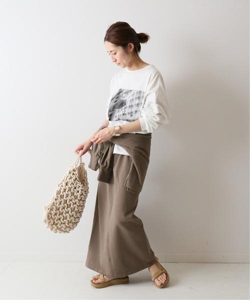 [Spick & Span] ミニ裏毛ロングスカート◆