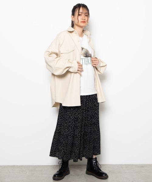 [WEGO] WEGO/ビッグシルエットCPOシャツジャケット