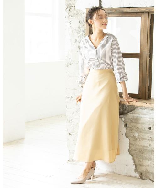 [12Twelve Agenda] サテンロングAラインスカート