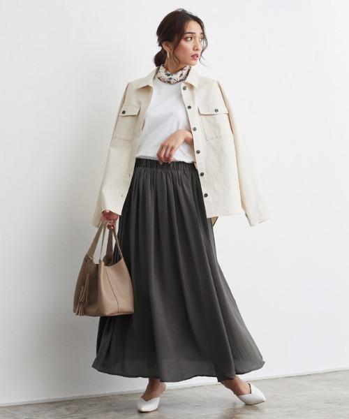 [Pierrot] サテンスカート