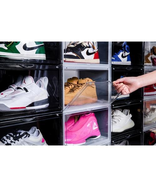 組み立て式「シューズボックス」で靴を見せる収納