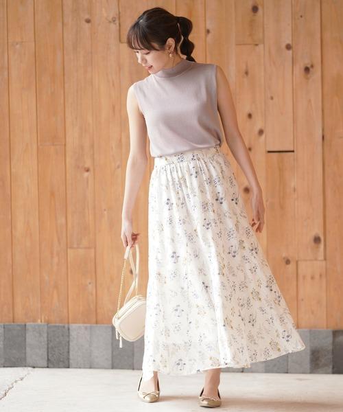 [rps] フラワーカットドビーパネルスカート