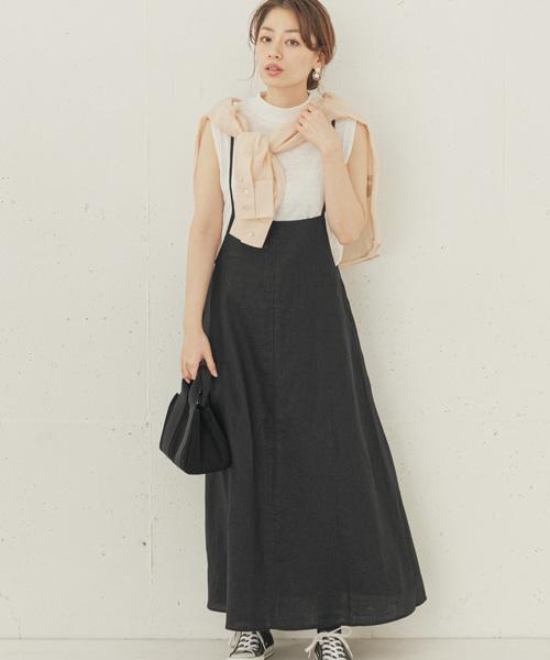 [URBAN RESEARCH] リネンジャンパースカート