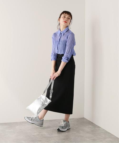 [JOURNAL STANDARD] ソフトスパンランダムプリーツシャツ