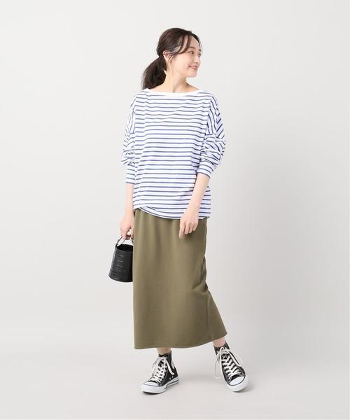 [Plage] high twist jersey スカート◆