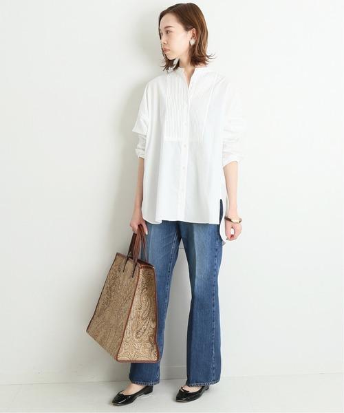 [IENA] 100/2 コットンピンタックシャツ◆