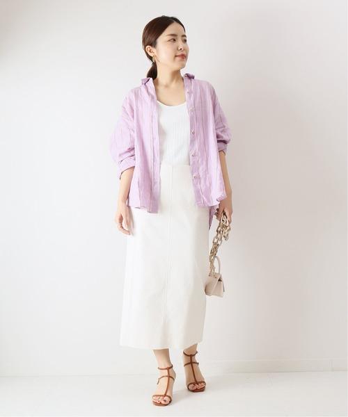 [Spick & Span] オックスボタンタイトスカート◆