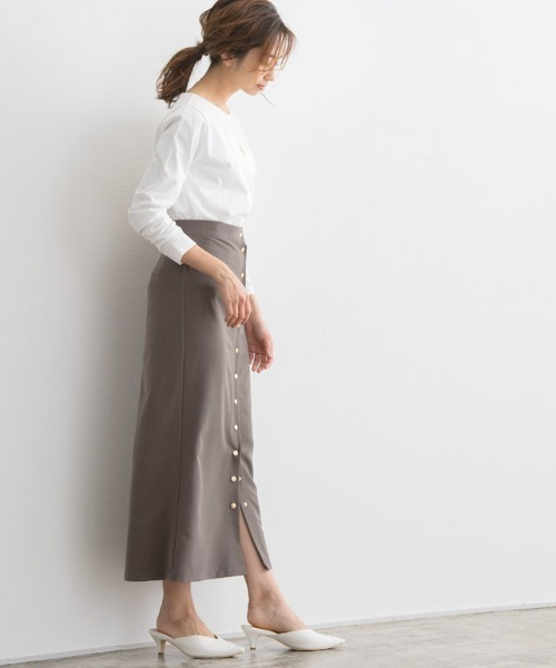 [Pierrot] 綿100%地厚長袖カットソー
