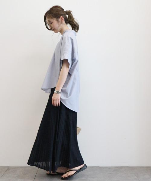 [AMERICAN HOLIC] 【2020SS】プリーツ風ニットロングスカート*