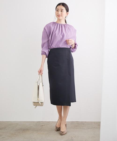 [ROPE'] ポリエステルツイルラップスカート