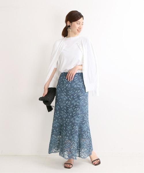 マーメイドスカートの上品コーデ