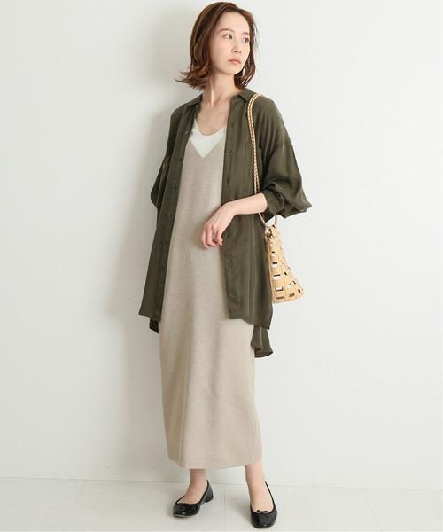 米駝色細肩帶連身裙