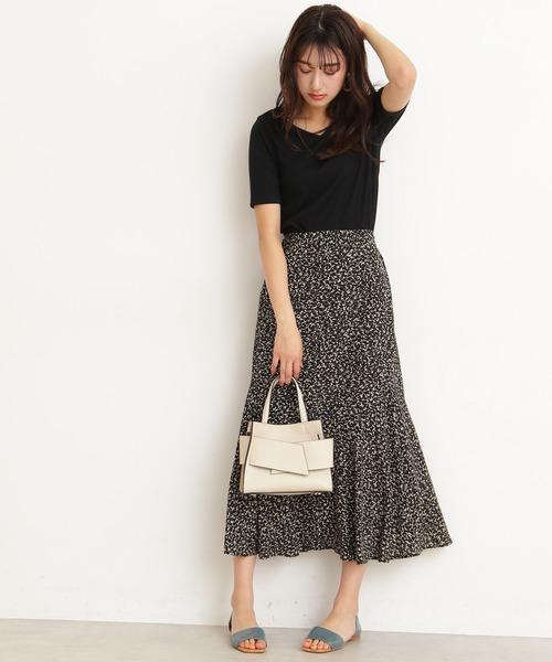 [N.(N. Natural Beauty Basic)] ◆アートプリントペプラムAラインスカート