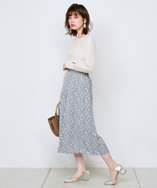 [natural couture] シアーレース2WAYブラウス