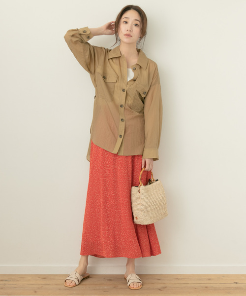 [URBAN RESEARCH ROSSO WOMEN] F by ROSSO 幾何柄フレアスカート