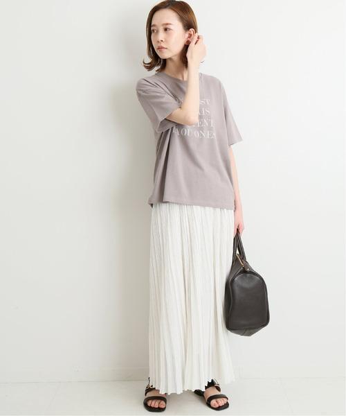 [IENA] シアーリブスカート◆