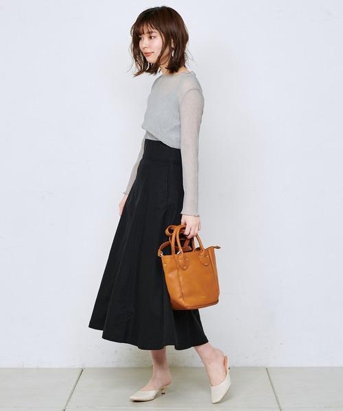 [natural couture] くしゅくしゅシアーキャミセットブラウス