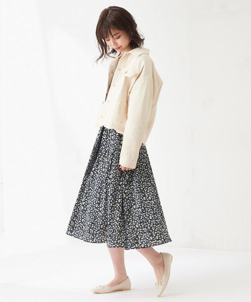 [natural couture] スカラップGジャン