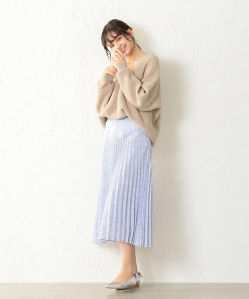[CAST:] ボタニカルプリントスカート