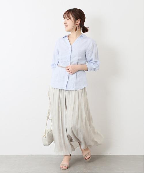 [La TOTALITE] エアリーカッセンギャザースカート【手洗い可能】◆