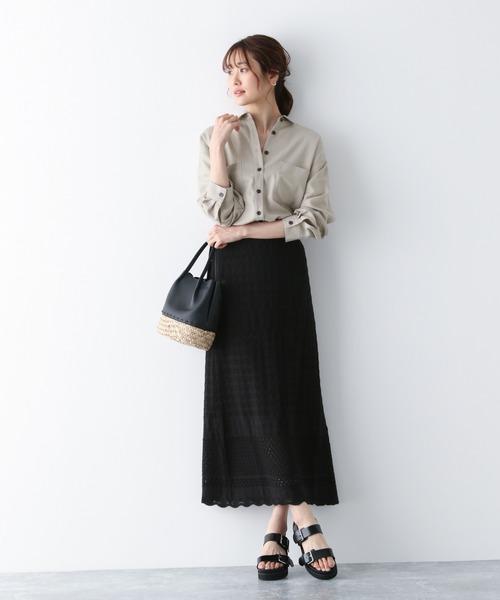 [GLOBAL WORK] 抜け感羽織りシャツ/869058