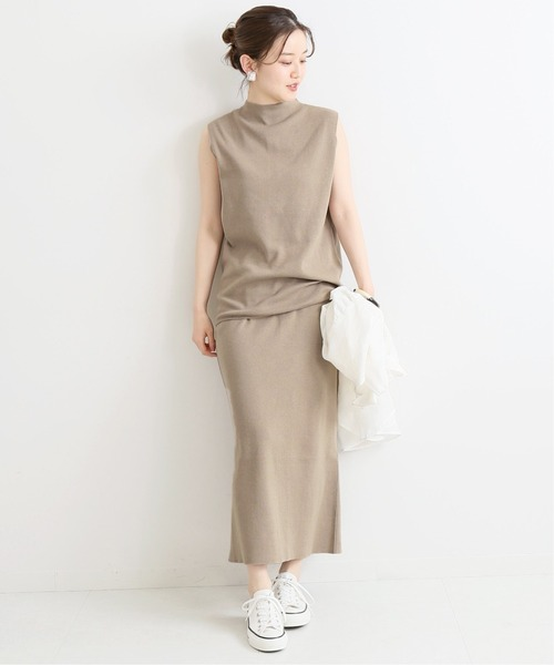 [IENA] 3/60 cotton ニットスカート◆