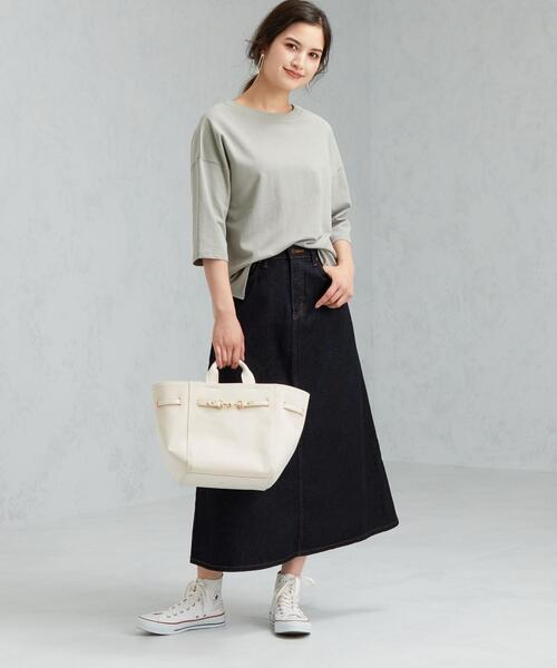 [green label relaxing] [ 別注 ] [サムシング] SC SOMETHING×GLR デニム フレア スカート