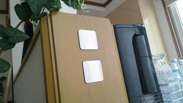 磁石用ステンレス補助プレートに貼って収納