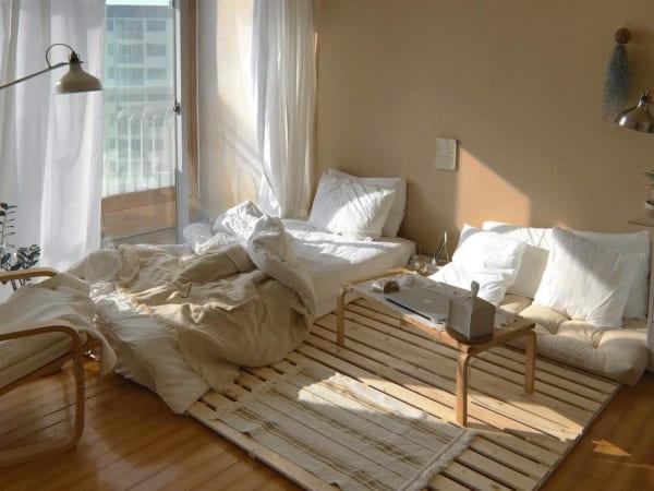 すのこを最大限に活用した寝室