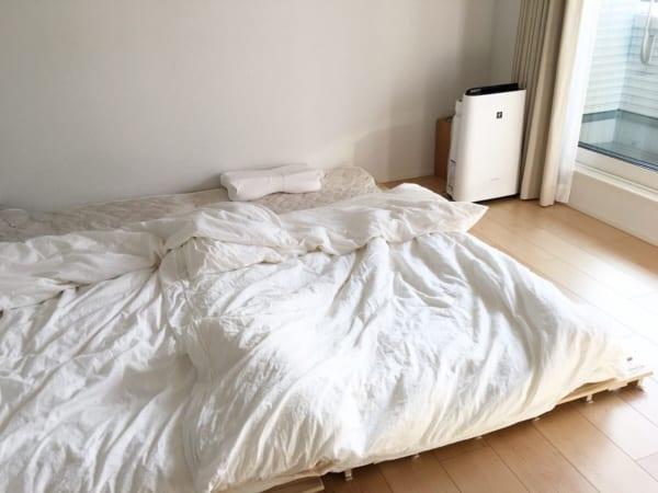使い勝手抜群のシンプルな寝室