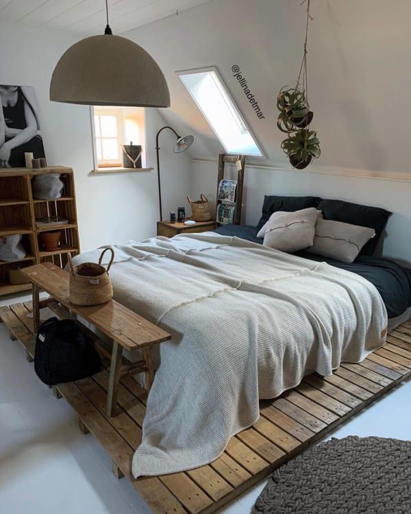 ナチュラルで上質な寝室