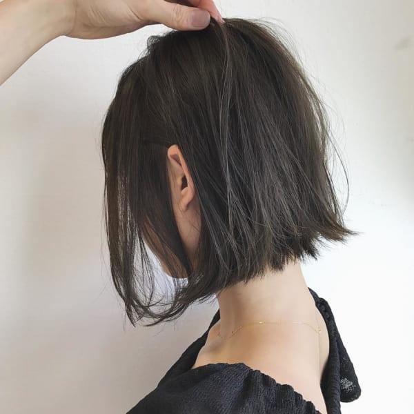 ストレート×ショートボブヘア《黒髪・暗髪》2