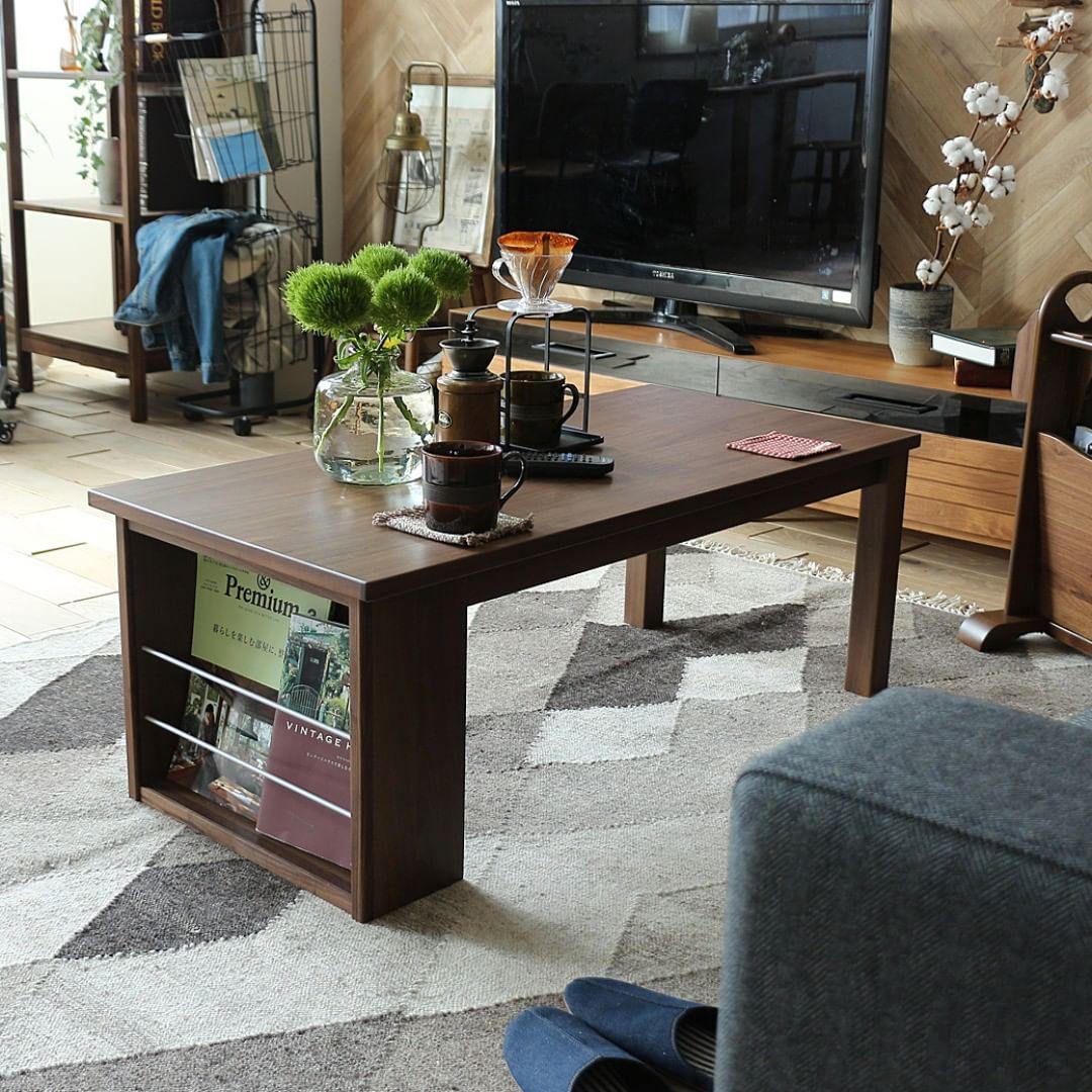 ヴィンテージテイストのリビングテーブル