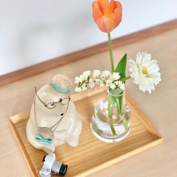 季節のオブジェを飾る敷物として使用