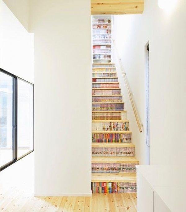 階段に収納