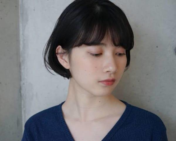 夏に人気の黒髪×ボブヘア3