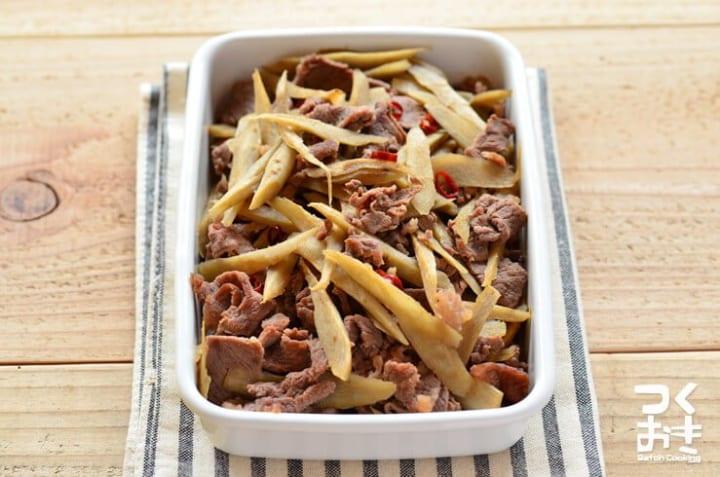 作り置きに簡単なレシピ!常備菜には牛ごぼう