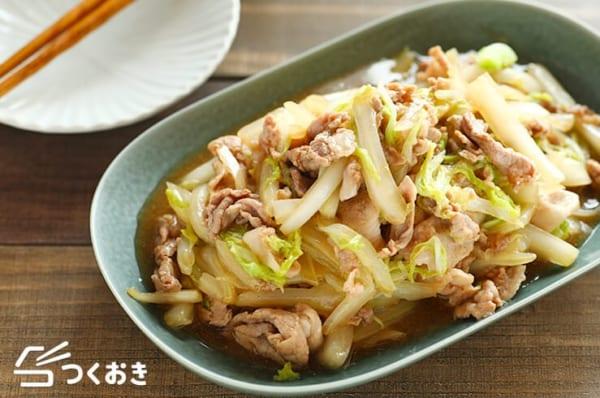 話題の人気おつまみに!豚肉と白菜の中華炒め