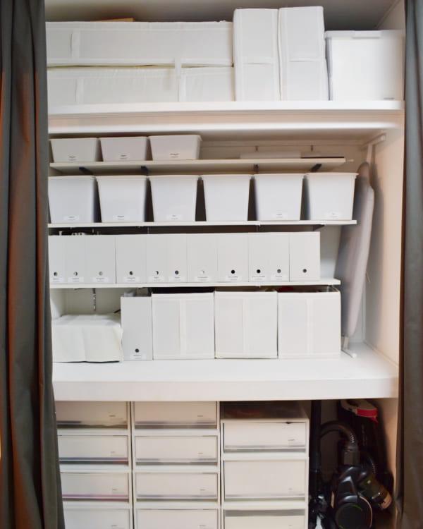 収納ケースを使った押入れの収納アイデア2