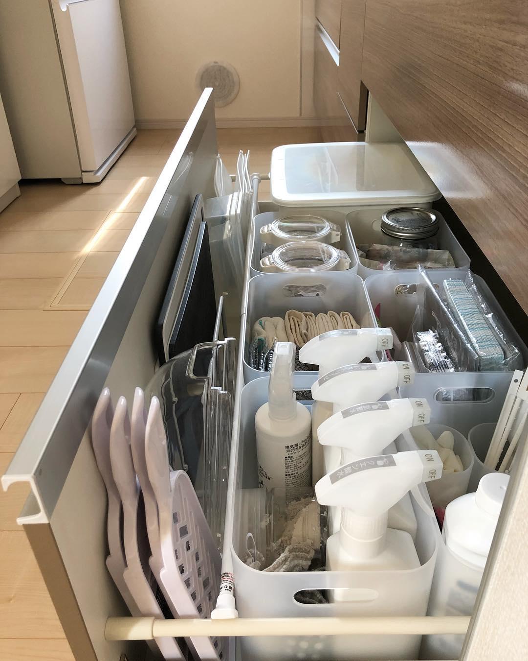 キッチン掃除用品はシンク下に収納
