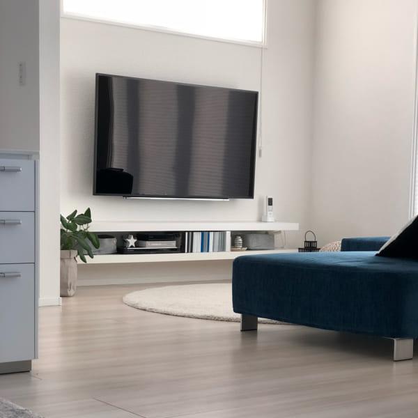 テレビは壁掛けレイアウト