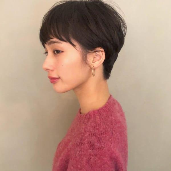 夏に人気の黒髪×ショートヘア6