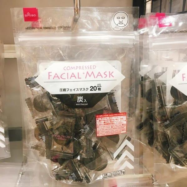 圧縮フェイスマスク【ダイソー】