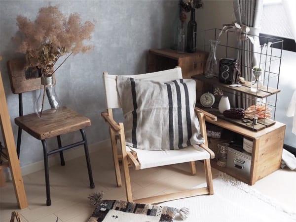 折りたたみタイプの椅子が便利