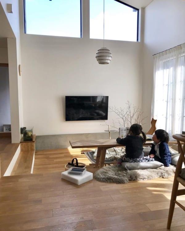 壁掛けテレビのインテリア3