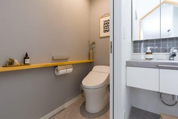 壁紙 アクセント トイレ