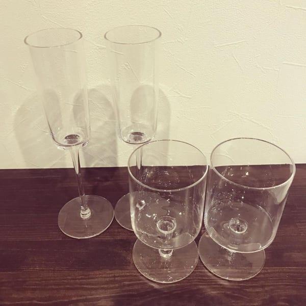 個性的なワイングラス/ダイソー